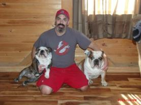 Me and the mutts, Riley is on your left and the big guy is Henry.